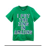 Toddler Boy Carter's 'I Put The Zing In Amazing' Graphic Tee