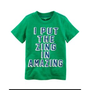 "Toddler Boy Carter's ""I Put The Zing In Amazing"" Graphic Tee"