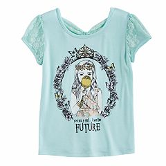 Disney Princess Girls 7-16 Bow Back Tee