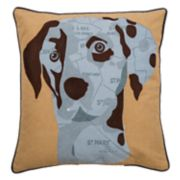 Rizzy Home Dog Map Throw Pillow