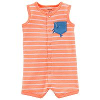 Baby Boy Carter's Striped Whale Romper