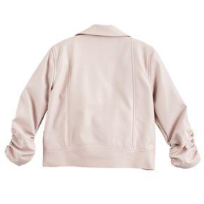 Disney Princess Girls 7-16 Faux Leather Moto Jacket