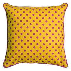 Rizzy Home Rachel Kate Polka-Dot Throw Pillow