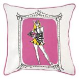 Rizzy Home Rachel Kate Shopper Girl Jeala Throw Pillow