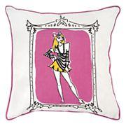 Rizzy Home Rachel Kate Shopper Girl Jeala Throw Pillow