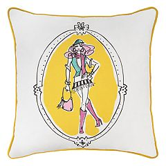 Rizzy Home Rachel Kate Shopper Girl Cassidy Throw Pillow