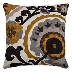 Rizzy Home Medallion Flower Throw Pillow