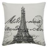 Rizzy Home Eiffel Tower Throw Pillow