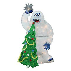 pre lit faux fur bumble the abominable snowman christmas decor - Kohls Christmas Decorations