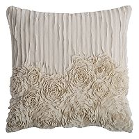 Rizzy Home Ruffled Flowers Throw Pillow