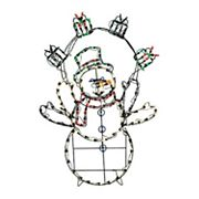 42 in Pre-Lit Animated Snowman Indoor / Outdoor Christmas Decor
