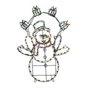 42-in. Pre-Lit Animated Snowman Indoor / Outdoor Christmas Decor
