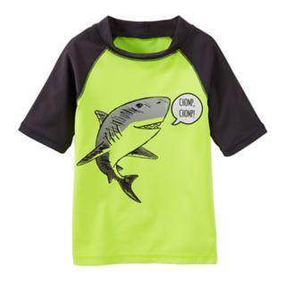 Toddler Boy OshKosh B'gosh® Shark Raglan Rash Guard