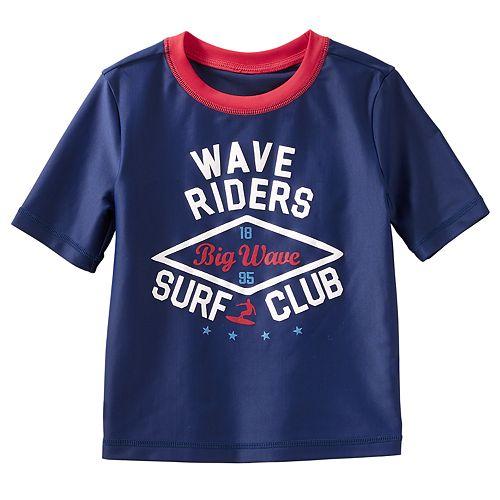 """Toddler Boy OshKosh B'gosh® """"Wave Riders Surf Club"""" Rash Guard"""