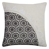 Rizzy Home Lace Circles Throw Pillow