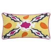 Rizzy Home Laura Fair Geometric Applique Oblong Throw Pillow