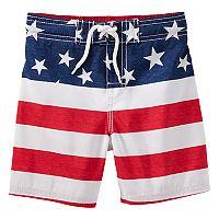Toddler Boy OshKosh B'gosh® Flag Swim Trunks