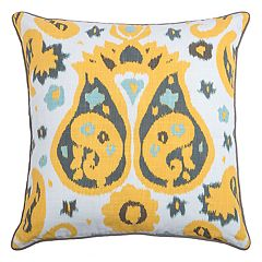 Rizzy Home Laura Fair Ikat Paisley Throw Pillow