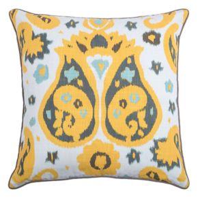 Rizzy Home Laura Fair Ikat Paisley Throw Pillow
