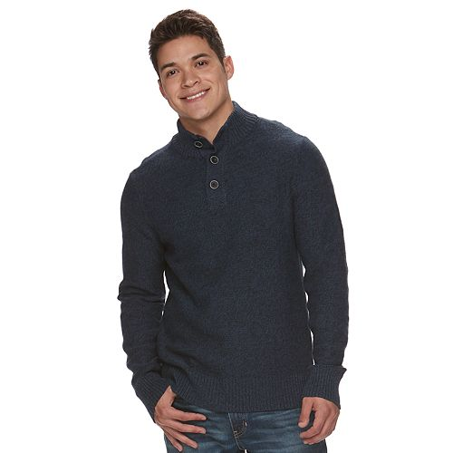 Big & Tall Men's Urban Pipeline® Mockneck Sweater