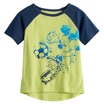 Disney's Mickey Mouse Toddler Boy Soccer Raglan Graphic Tee by Jumping Beans®
