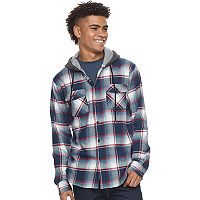 Men's Trinity Collective Hooded Button-Down Flannel Shirt