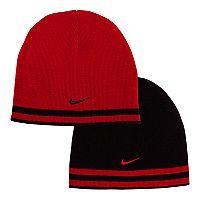 Boys Nike Reversible Striped Beanie Hat