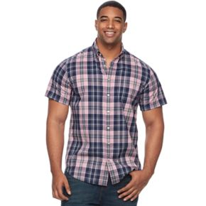 Big & Tall SONOMA Goods for Life? Patterned Stretch Button-Down Shirt
