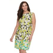 Plus Size Suite 7 Floral Shift Dress