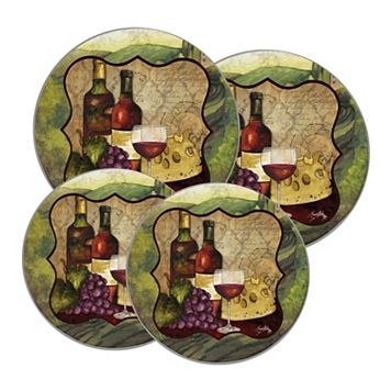 Range Kleen 4-pc. Wine Enthusiast Burner Kover Set