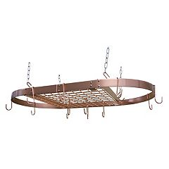 Range Kleen Oval Copper-Finished Pot Rack