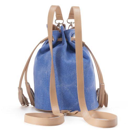 love this life Canvas Tassel Drawstring Backpack