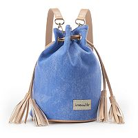 love this life Canvas Tassel Drawstring Backpack