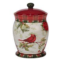 Certified International Winter Field Notes Cardinal Biscotti Jar