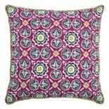 Rizzy Home Laura Fair Medallion Print Throw Pillow