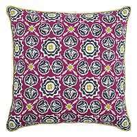 Rizzy Home Laura Fair Medallion Print Throw Pillow