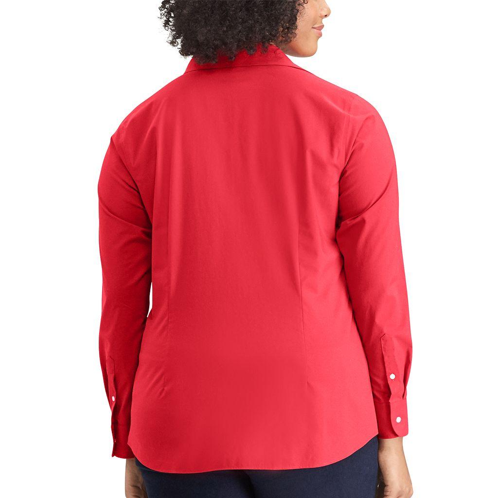 Plus Size Chaps Woven Top