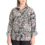 Plus Size Chaps Woven Top