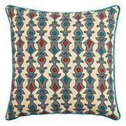 Rizzy Home Laura Fair Geometric Stripe Throw Pillow