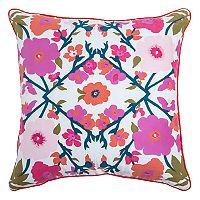 Rizzy Home Laura Fair Floral Throw Pillow