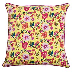Rizzy Home Laura Fair Floral Print Throw Pillow