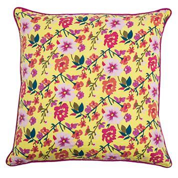 Rizzy Home Laura Fair Floral Print Throw Pillow