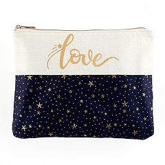 love this life 'Love' Metallic Stars Pouch