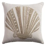 Rizzy Home Beaded Shell Throw Pillow