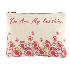 love this life Canvas Watercolor Sunflower Pouch