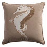 Rizzy Home Seahorse Throw Pillow
