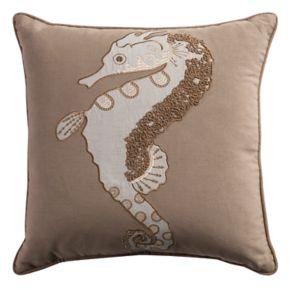 Rizzy Home Seahorse Throw Pillow