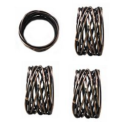 Food Network™ Metallic Twist Napkin Rings 4-pack