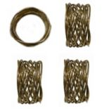 Food Network? Metallic Twist Napkin Rings 4-pack