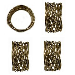 Food Network™ Metallic Twist Napkin Rings 4-pack